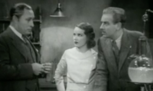 """Lionel Atwill, Fay Wray and Melvyn Douglas in """"The Vampire Bat"""""""