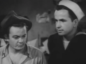 Leo Gorcey as Muggs and Noah Beery Jr. as Butch in 'Neath Brooklyn Bridge